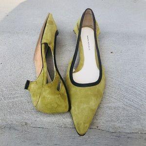 Banana Republic Green Suede Kitten Heel